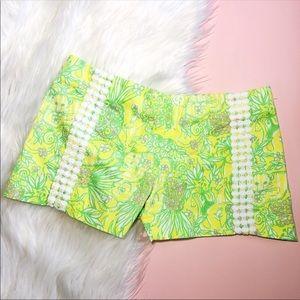 Lilly Pulitzer Sweet Tart Yellow Liza Shorts 2